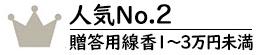 贈答用線香1~3万円未満No.2