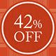 42%OFF