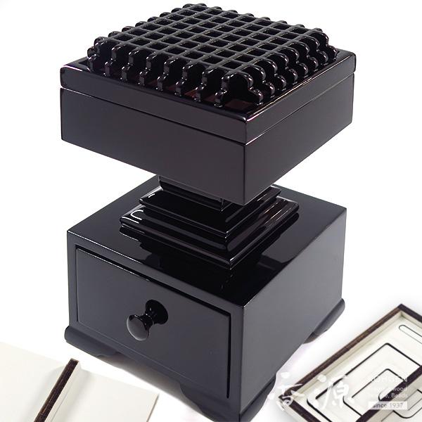 常香盤(時香盤) 黒塗 渦巻型セット 灰押付