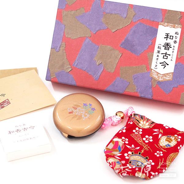 長川仁三郎商店のお香和香古今天女の香り秋草(金/赤)