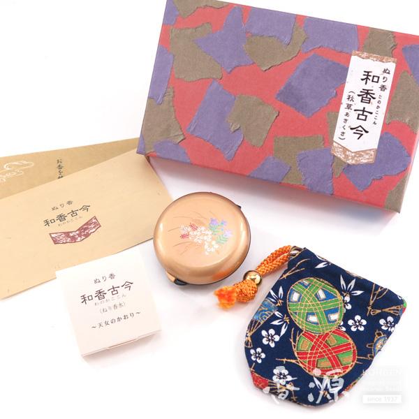 長川仁三郎商店のお香和香古今天女の香り秋草(金/紺)