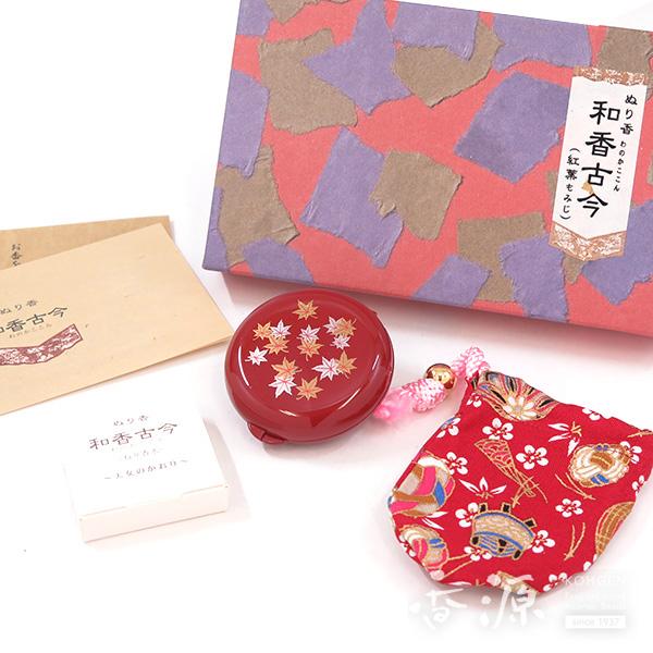 長川仁三郎商店のお香和香古今(わのかここん)天女の香り紅葉(赤/赤)