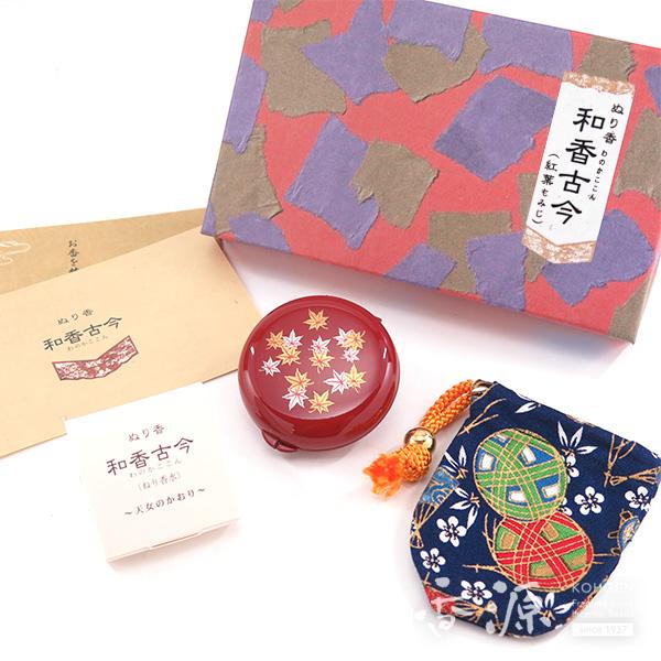 長川仁三郎商店のお香和香古今天女の香り紅葉(赤/紺)