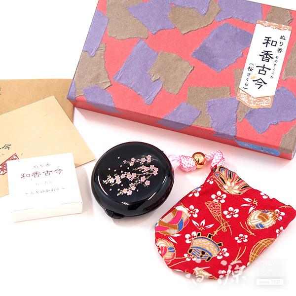 長川仁三郎商店のお香和香古今天女の香り桜(黒/赤)