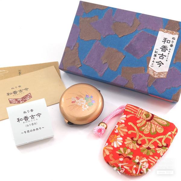 長川仁三郎商店のお香和香古今牛若の香り秋草(金/赤)
