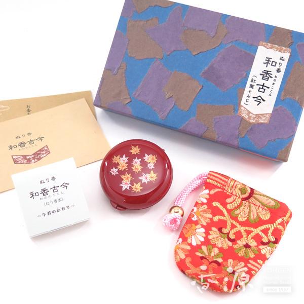 長川仁三郎商店のお香和香古今牛若の香り紅葉(赤/赤)