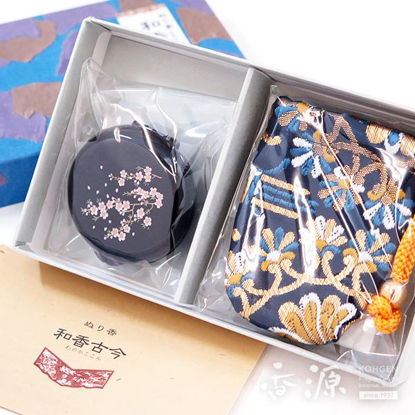長川仁三郎商店のお香和香古今牛若の香り 桜(黒/紺)の拡大写真1