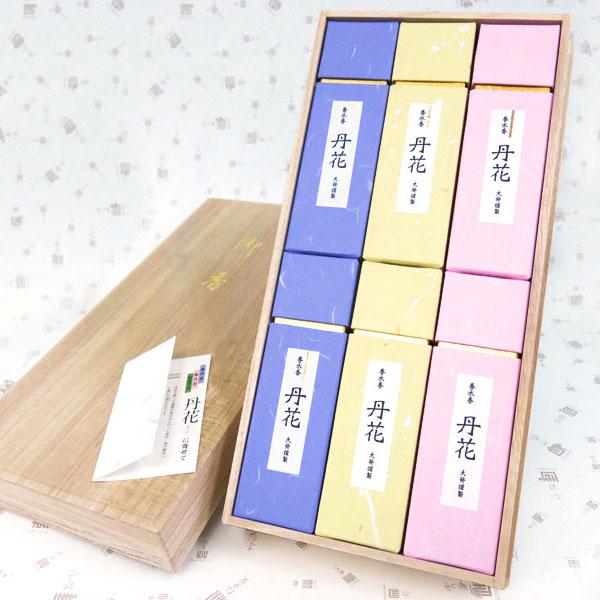 大発 丹花三色 アソート 桐箱/古典的な香水の香り(洋風)