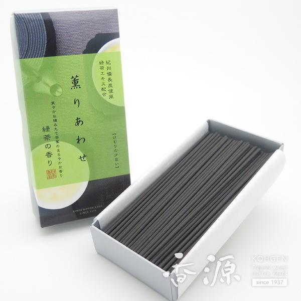 日本香堂のお線香薫りあわせ緑茶の香りバラ詰