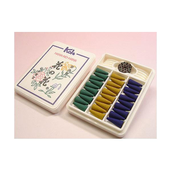 日本香堂のお香花の花コーン型30個入