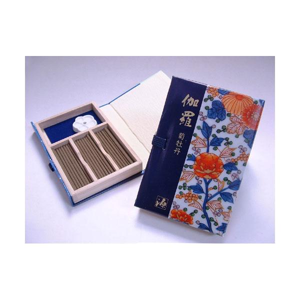 日本香堂のお香源右衛門シリーズ伽羅菊牡丹スティック