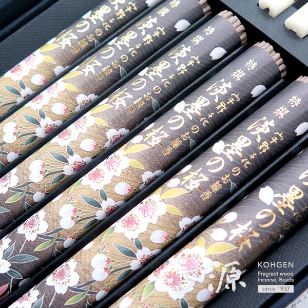 日本香堂のギフト特撰淡墨の桜化粧箱絵ローソクセットの拡大写真1