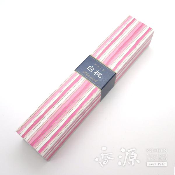 日本香堂のお香 かゆらぎ 白桃(はくとう)40本入