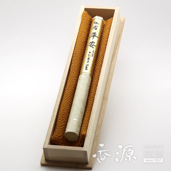 日本香堂 高級 線香 贈答用 ギフト 伽羅平安 長寸1把入 桐箱
