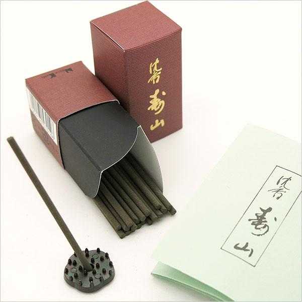 日本香堂のお香 沈香寿山 スティックミニ寸24本入