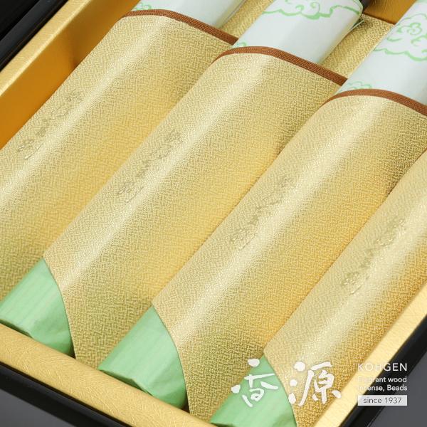 日本香堂の贈答用ギフト伽羅金剛8把入塗箱の詳細写真1