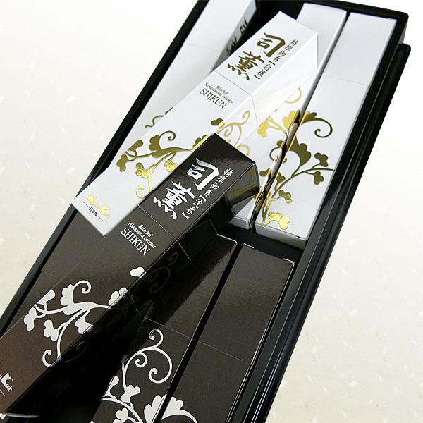 日本香堂の贈答用ギフト司薫二種香塗箱の詳細写真1