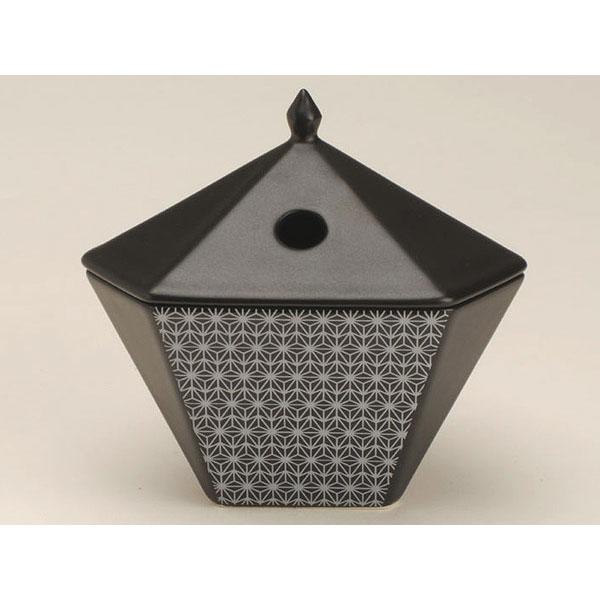 日本香堂の香炉縁香炉麻文様黒