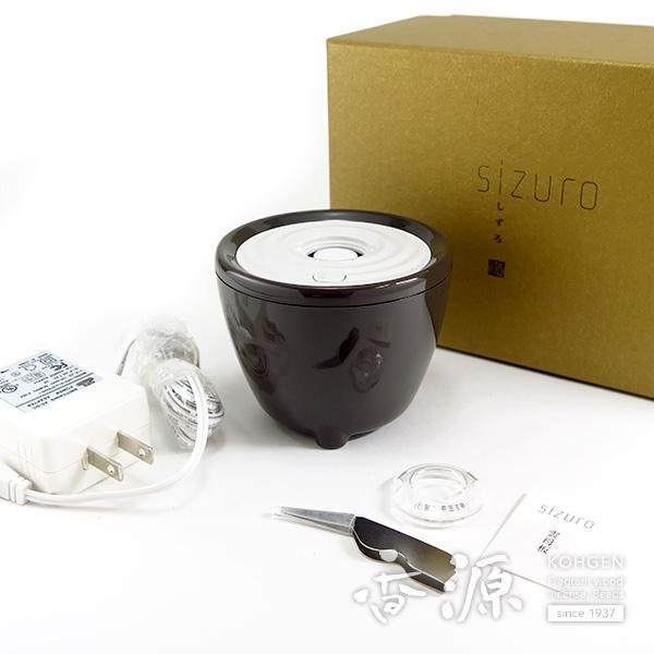 日本香堂sizuro(しずろ)電子香炉セット茶色
