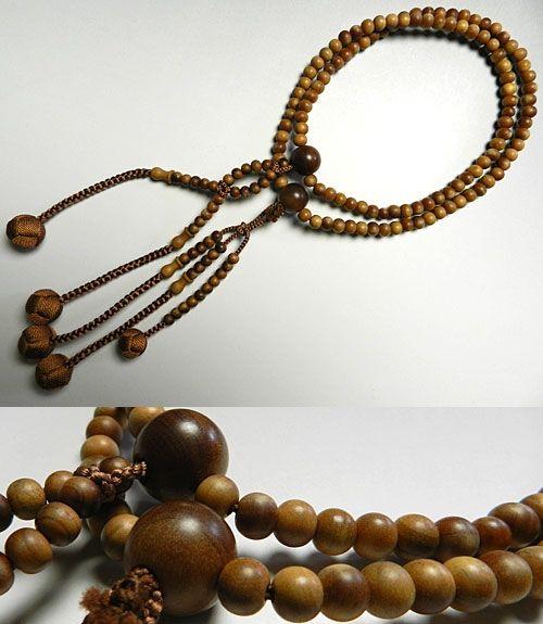 男性用数珠 インド白檀 二双半法華 共仕立て 日蓮宗