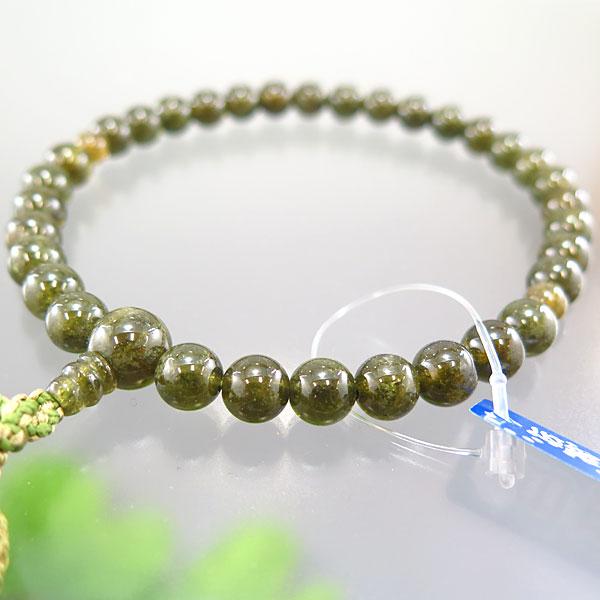 女性用数珠 グリーンガーネット 8mm玉 共仕立て 限定品