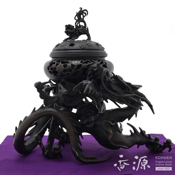 高岡銅器 香炉 吉祥龍香炉