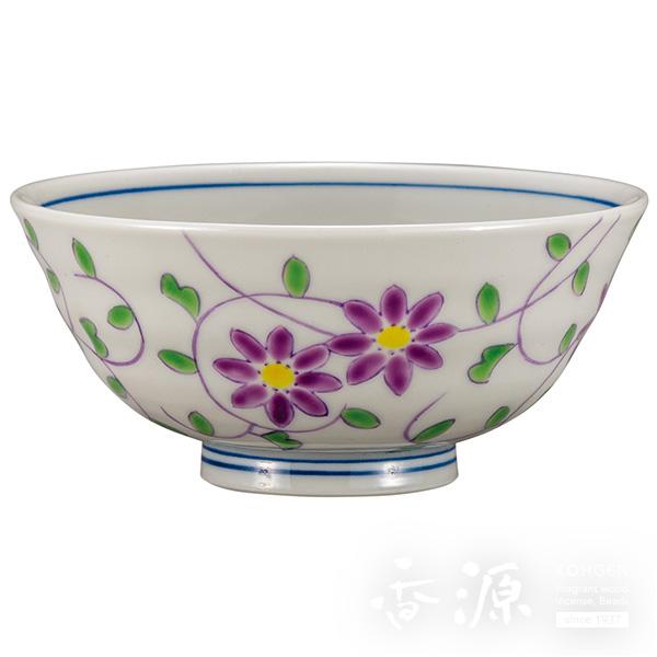 九谷焼 飯碗(茶碗) 花唐草文