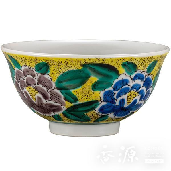 九谷焼 飯碗(茶碗) 吉田屋牡丹