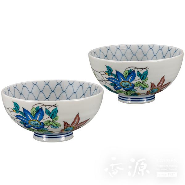 九谷焼 組飯碗(夫婦茶碗) 鉄仙