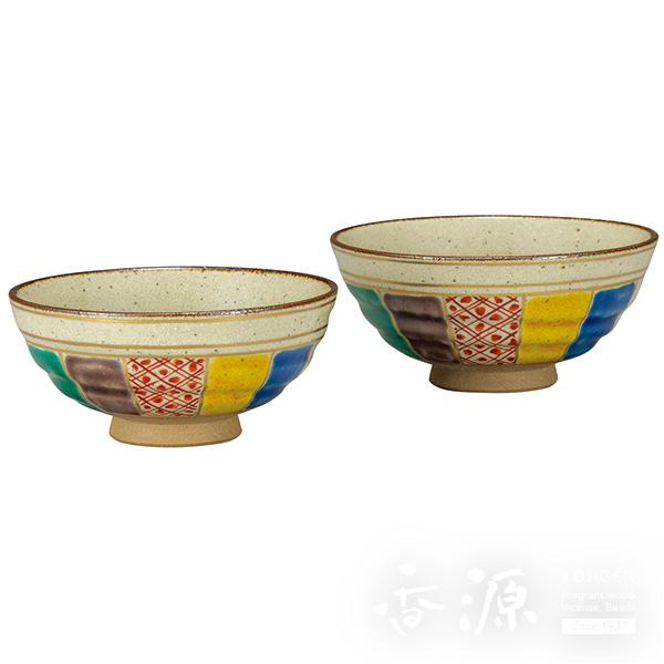 九谷焼 組飯碗(夫婦茶碗) 紙風船