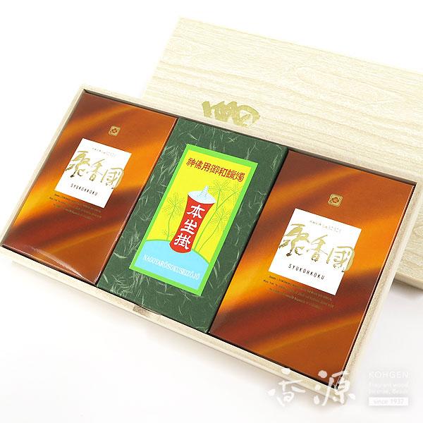 香源 オリジナルギフト 贈答用 聚香國&和ろうそくセット 桐箱入