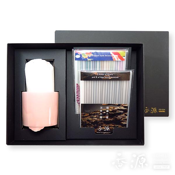 香源 ギフトセット お香20種セット&聞香炉(さくら)