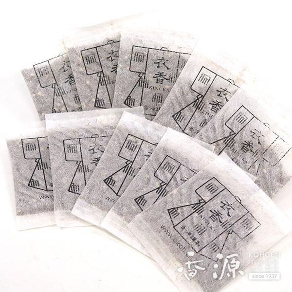 香源 衣類用匂い香 衣香(きぬか)10個セット 防虫香